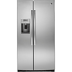 """GE 36"""""""" 25.4 cu. ft. Side by Side Refrigerator in Stainless Steel - ENERGY STAR®"""