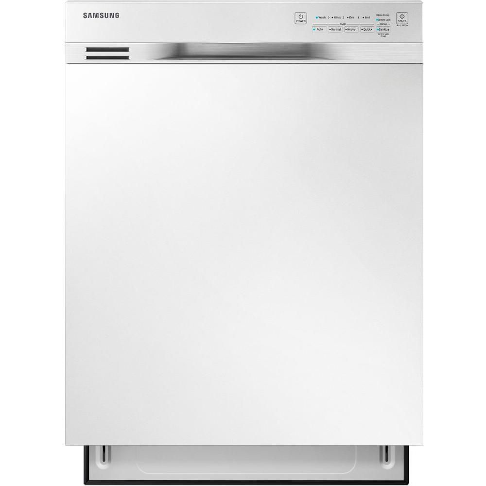 24-inch Built-In Dishwasher with Stainless Steel Tub in White - ENERGY STAR®