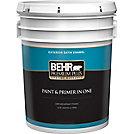 Behr Premium Plus Exterior Paint Primer In One Satin Enamel Ultra Pure White 18 9 L The