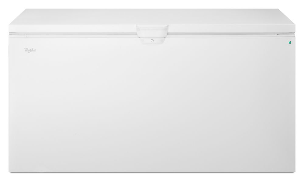21.7 Cu. Ft. Chest Freezer with Extra-Large Capacity and Temperature Alarm in White