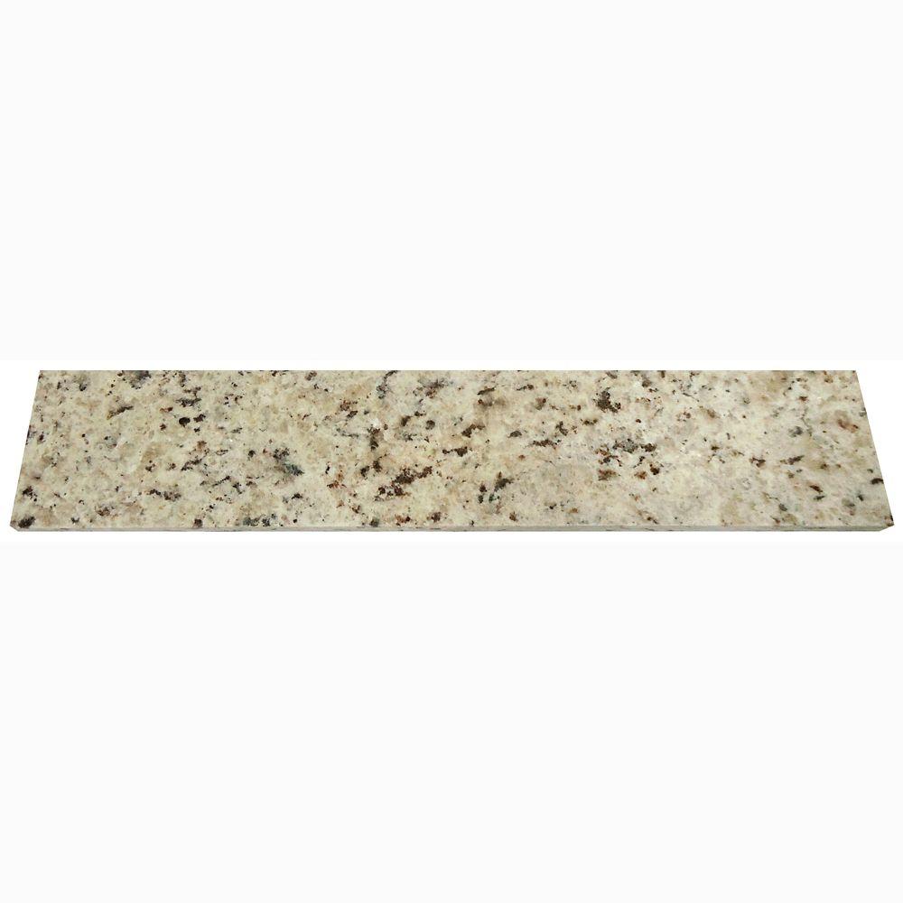 Dosseret latéral de 45,7 cm (18 po) en granit Giallo Ornamental