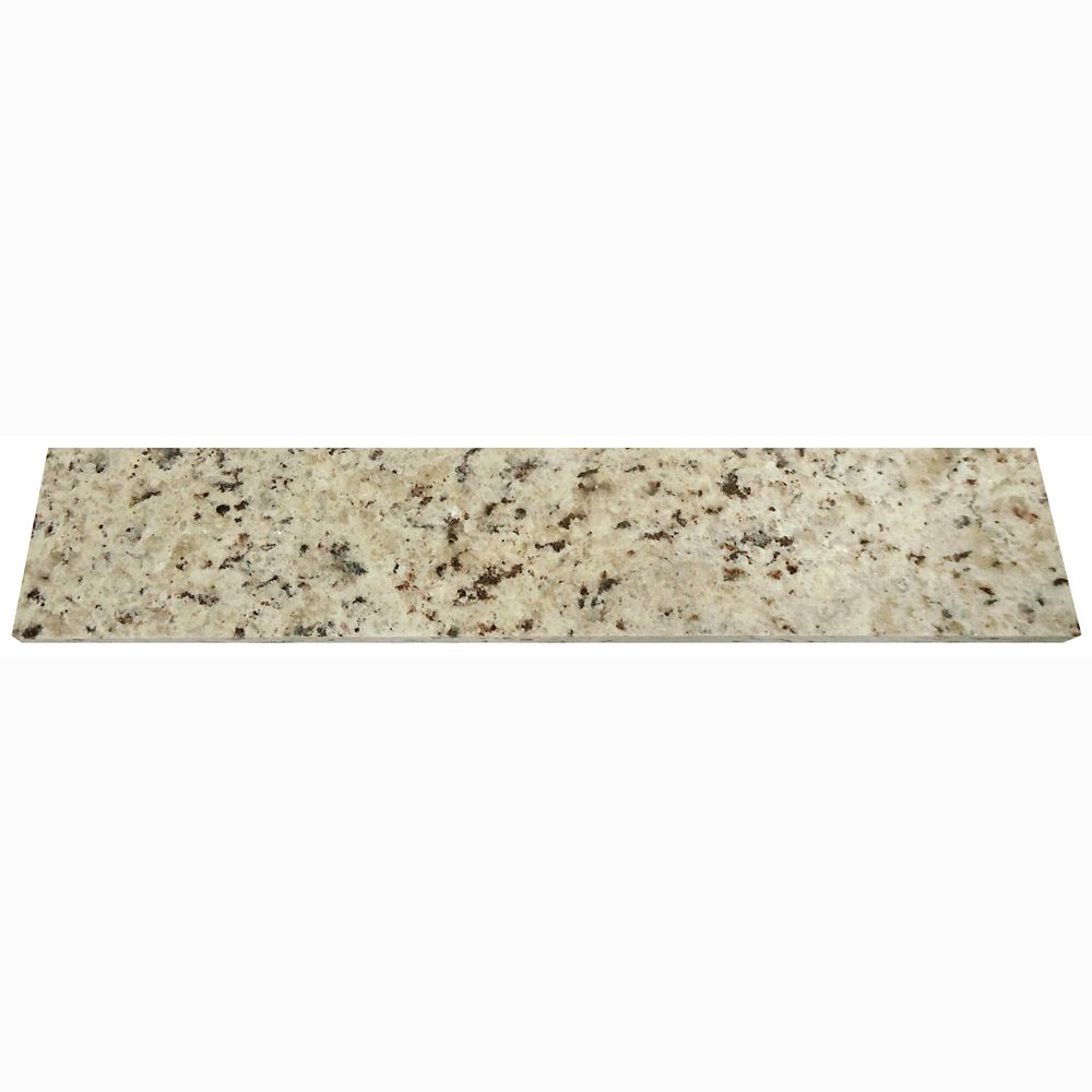 Giallo Ornamental 18-Inch Granite Side Splash