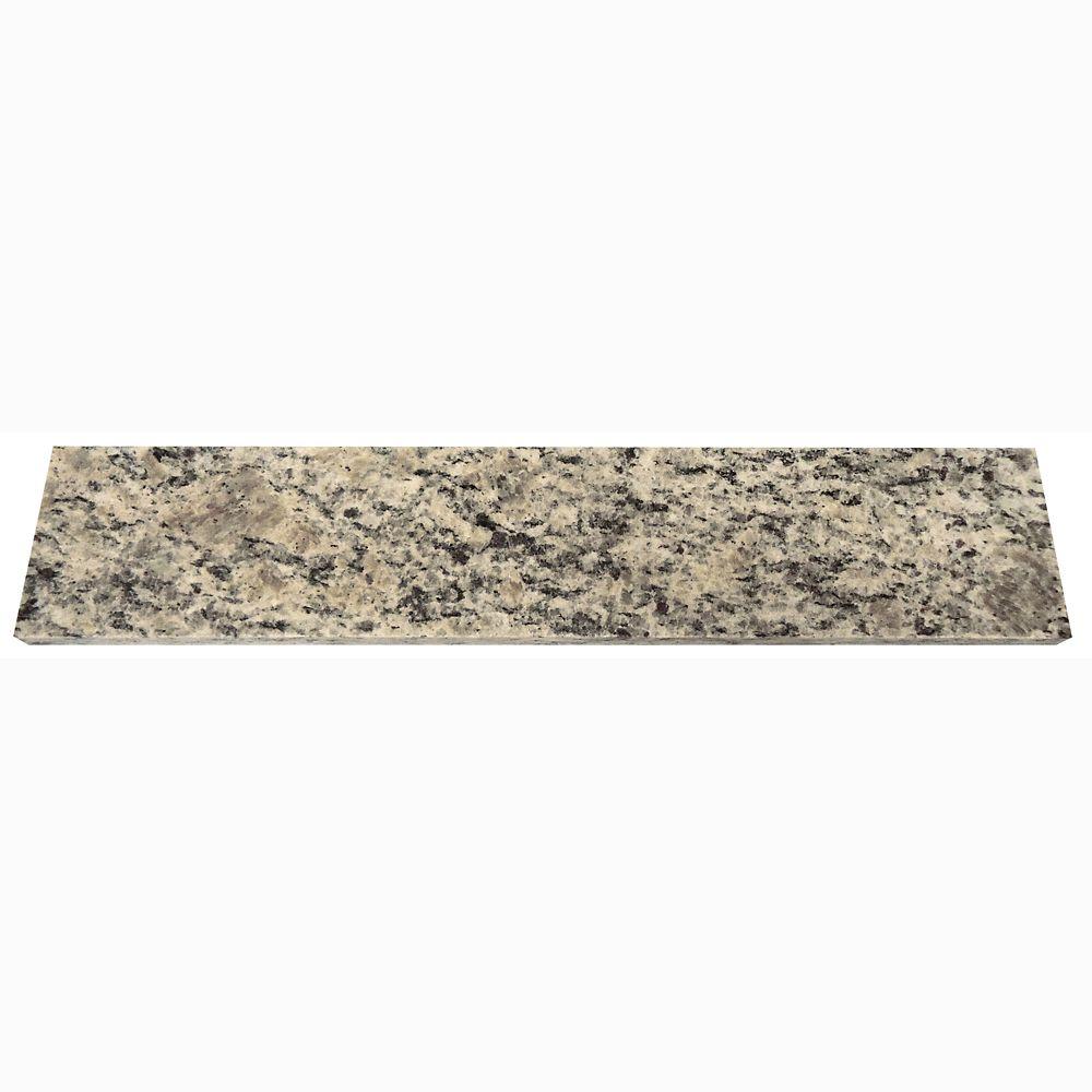 Dosseret latéral de 45,7 cm (18 po) en granit Santa Cecilia