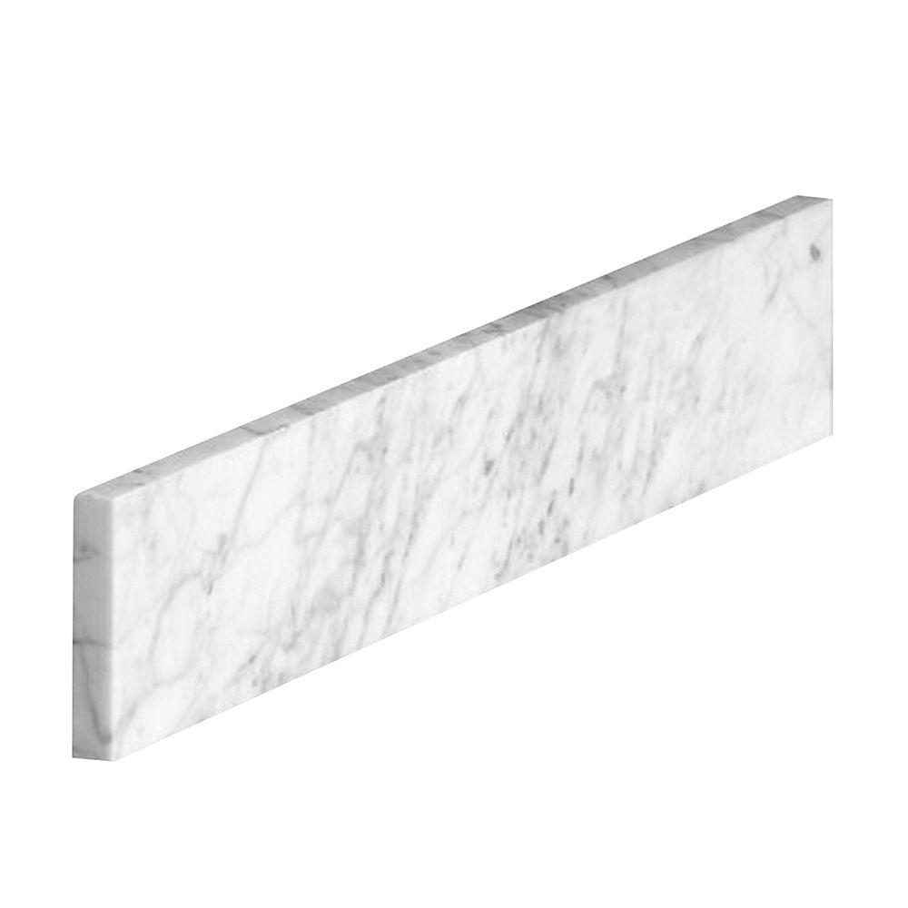 Dosseret latéral de 53,3 cm (21 po) en marbre de Carrare