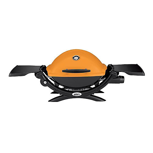 Q 1200 Portable Liquid Propane BBQ in Orange