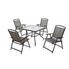 Ensemble de table et chaises pliantes, 5 pièces