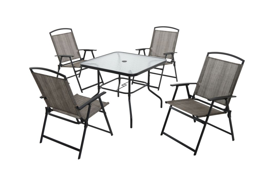 Hampton Bay 5-Piece Folding Patio Dining Set