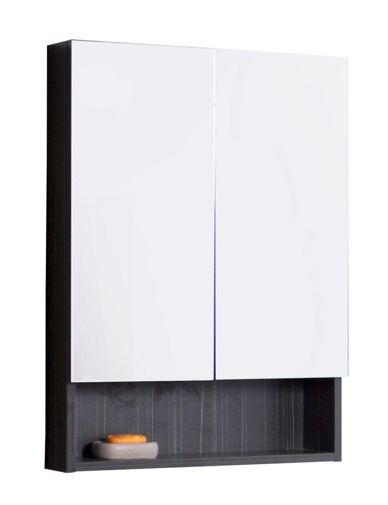 24 In. W x 32 In. H Modern Plywood-Melamine Medicine Cabinet In Dawn Grey Finish