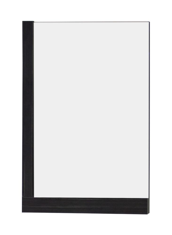 24 In. W x 32 In. H Modern Plywood-Melamine Wood Mirror In Dawn Grey Finish