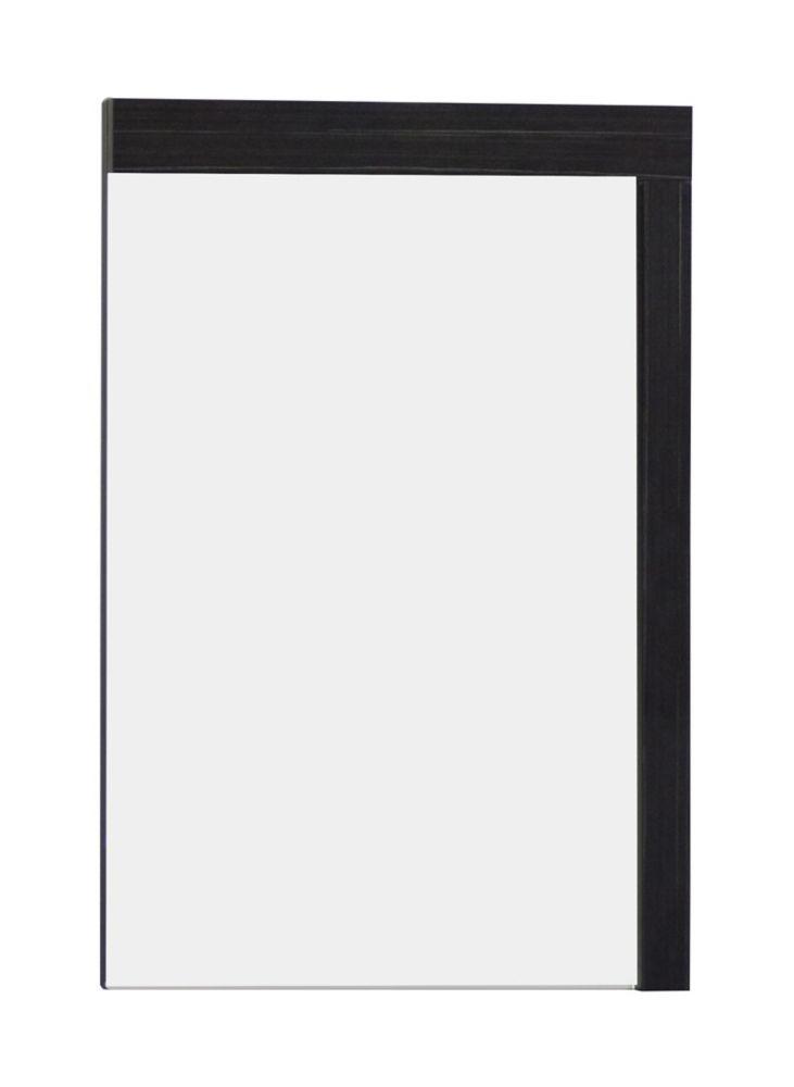 24 po W x 32 po. H Modern Plywood-Mélamine Bois Mirroir En Aube finition grise