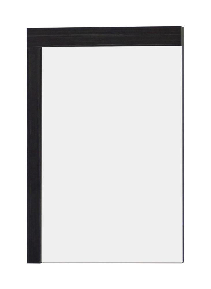 24 In. W x 32 In. H Modern Plywood-Melamine Wood Mirror In Dawn Grey Finish