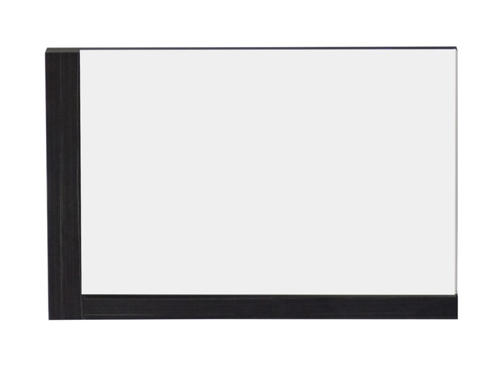 32 In. W x 24 In. H Modern Plywood-Melamine Wood Mirror In Dawn Grey Finish
