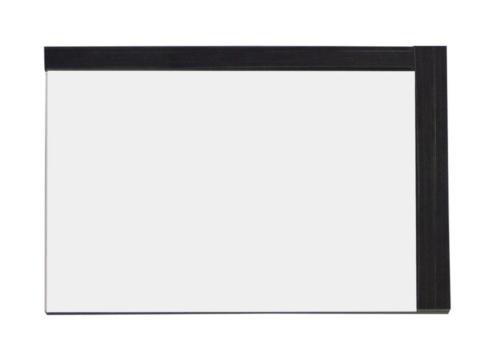 32 In. W x 24 In. H Modern Plywood-Melamine Wood Mirror In Dawn Grey Finish