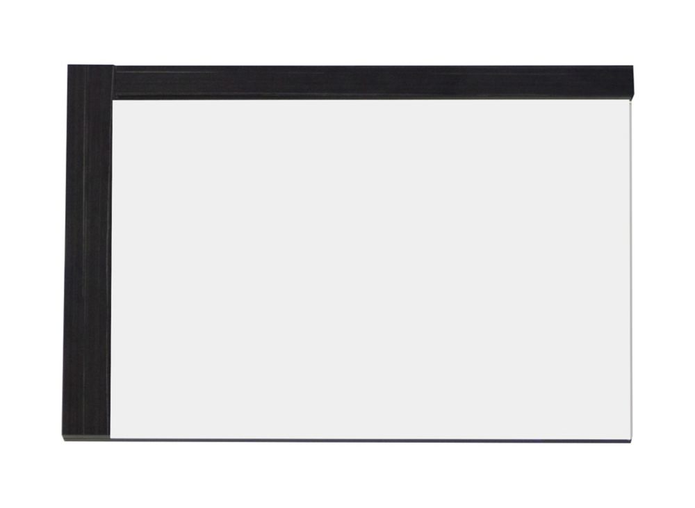 32 po W x 24 po. H Modern Plywood-Mélamine Bois Mirroir En Aube finition grise
