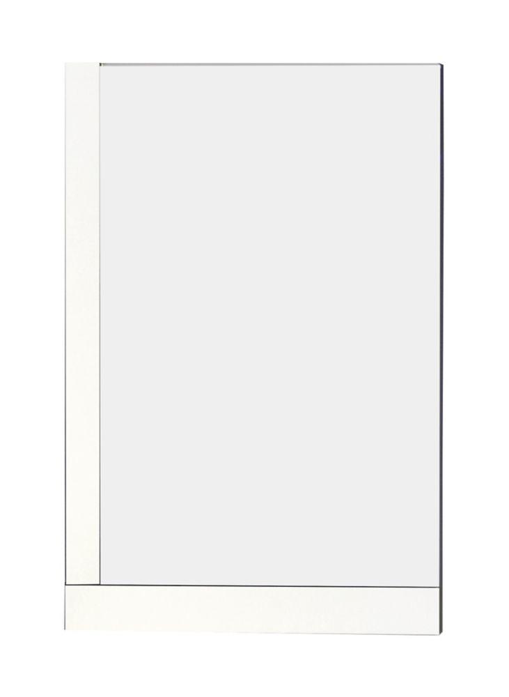 24 In. W x 32 In. H Modern Plywood-Melamine Wood Mirror In White Finish