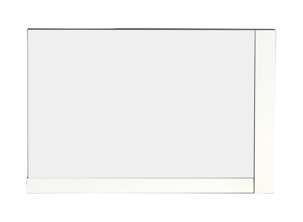 32 In. W x 24 In. H Modern Plywood-Melamine Wood Mirror In White Finish