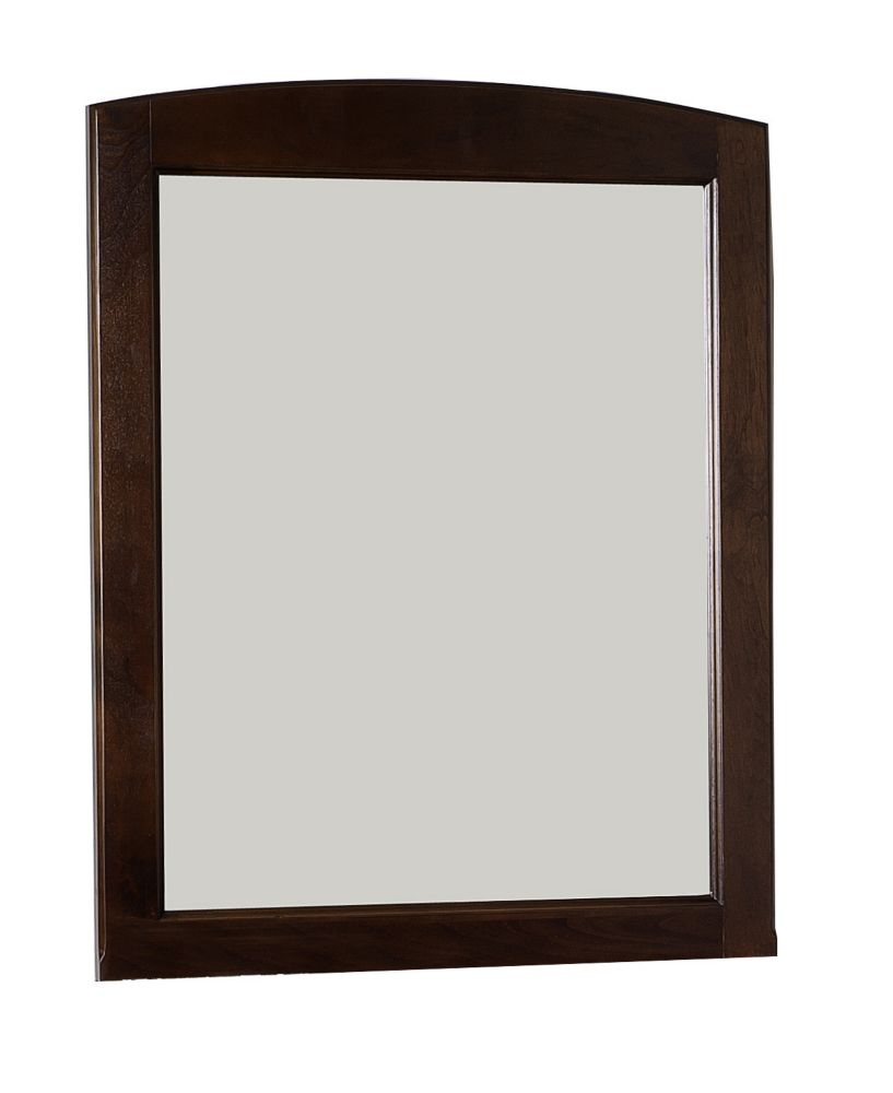 24 In. W x 32 In. H Rectangle Wood Framed Mirror Without Shelf In Walnut Finish