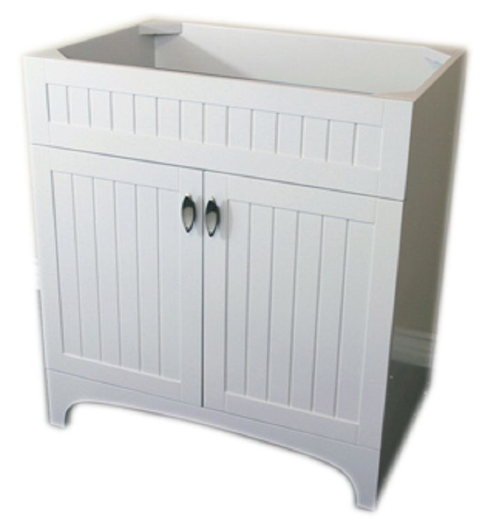 32-Inch W Single Sink Vanity Cabinet Only in White