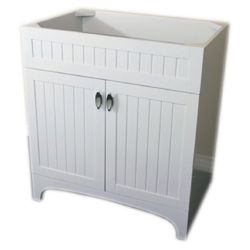 Bellaterra 32-Inch W Single Sink Vanity Cabinet Only in White