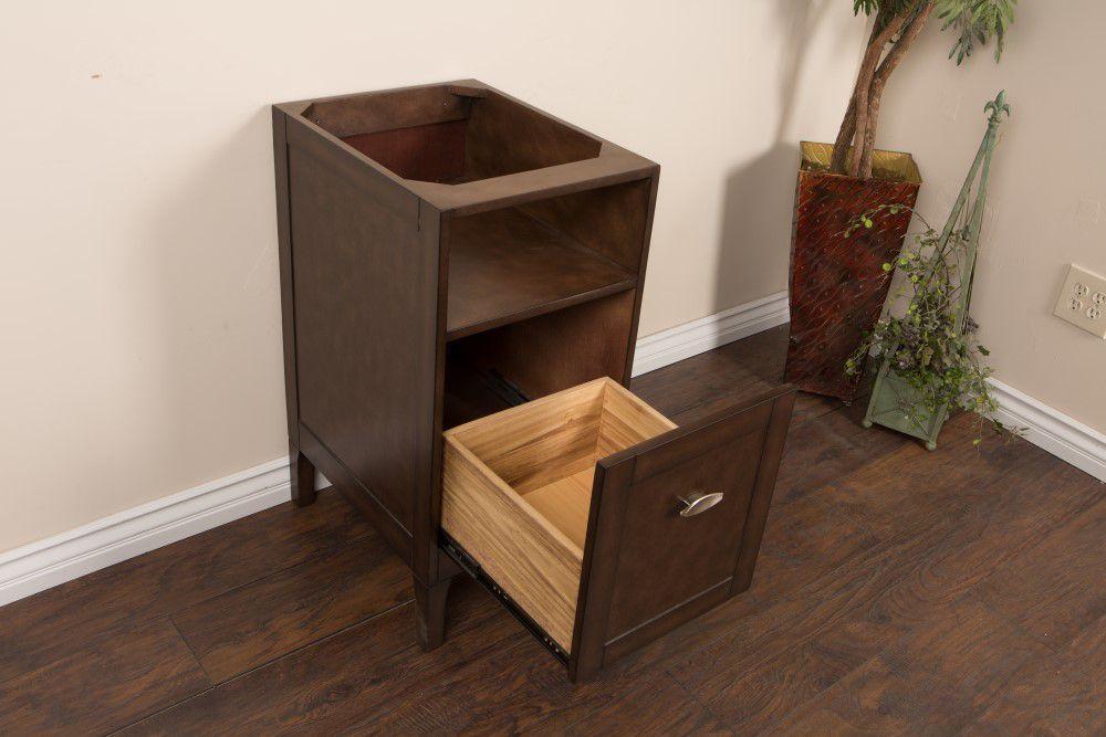 16-Inch  Vanity Cabinet in Sable Walnut