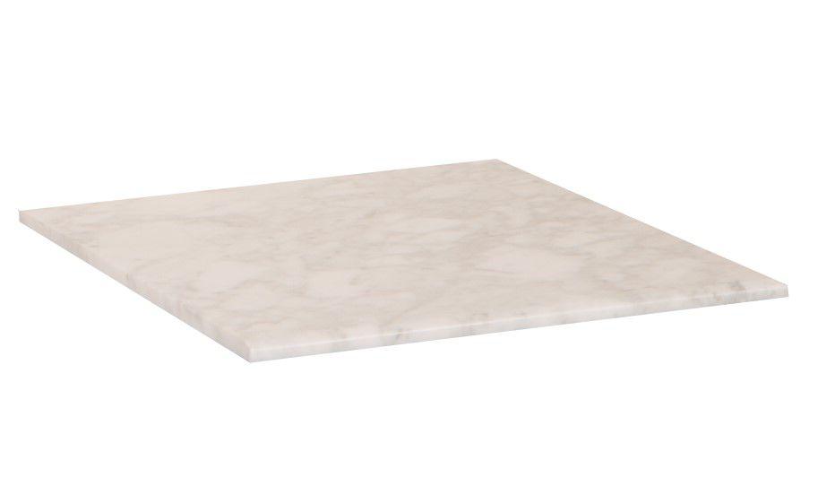 16-Inch W Carrara Marble Vanity Top in White