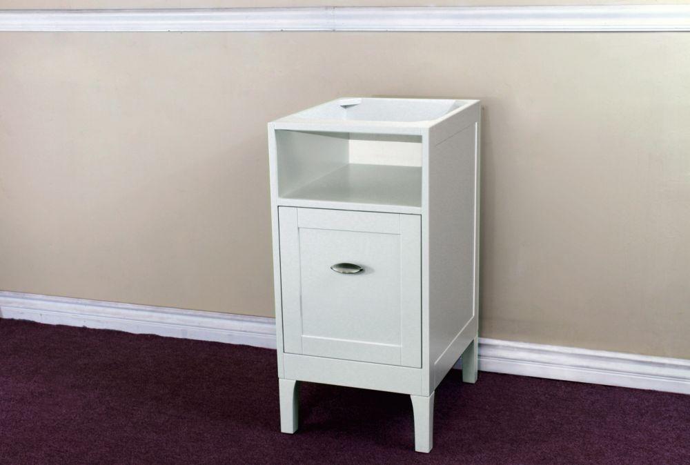 Bellaterra 16-Inch  Vanity Cabinet in White
