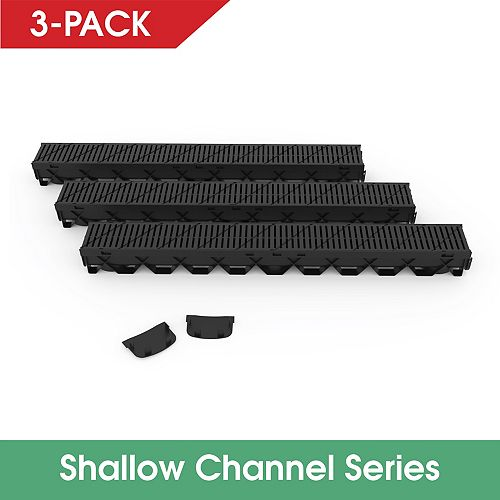RELN Storm Mate 3Pc Low Profile Channel Drain Kit
