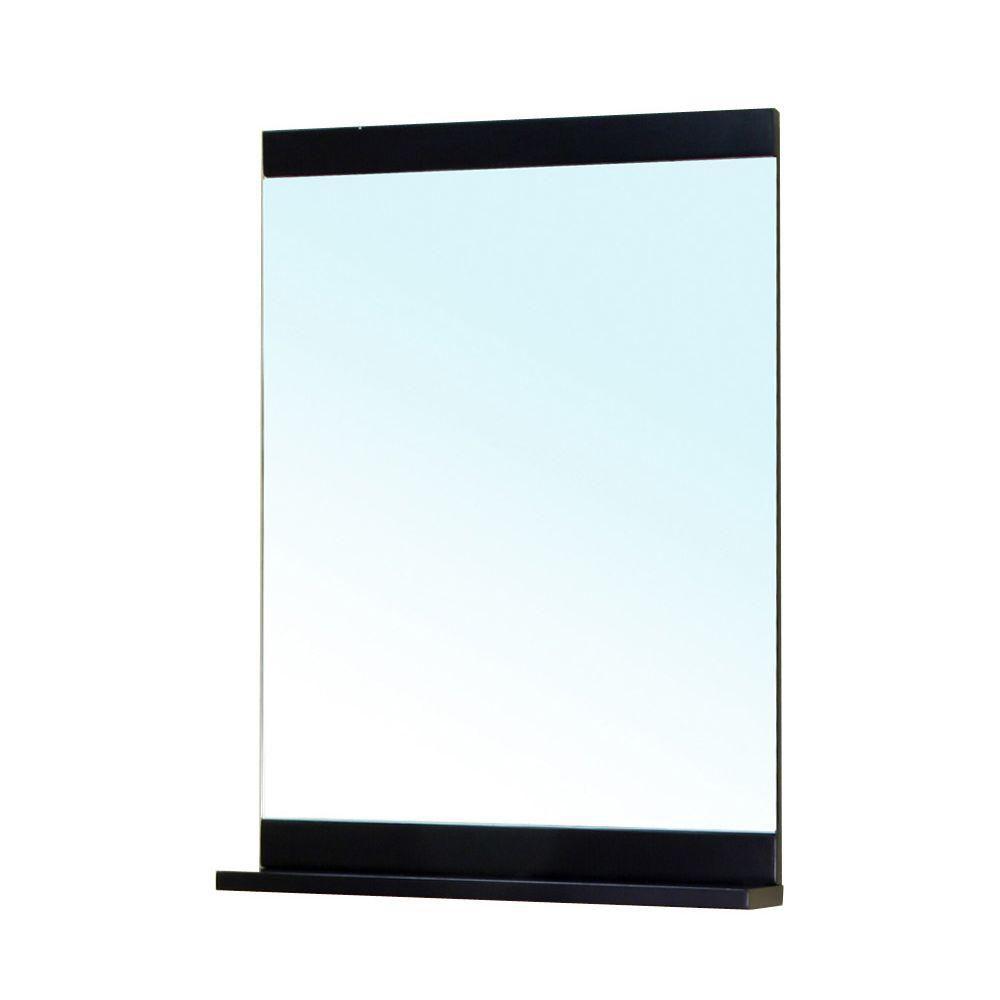 Newton 34 In. L X 30 In. W Wall Mirror in Black