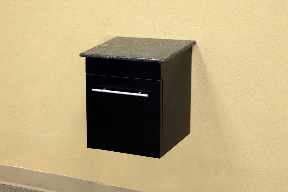 Norwalk Wh 15 In. Solid Wood Side Cabinet in Black