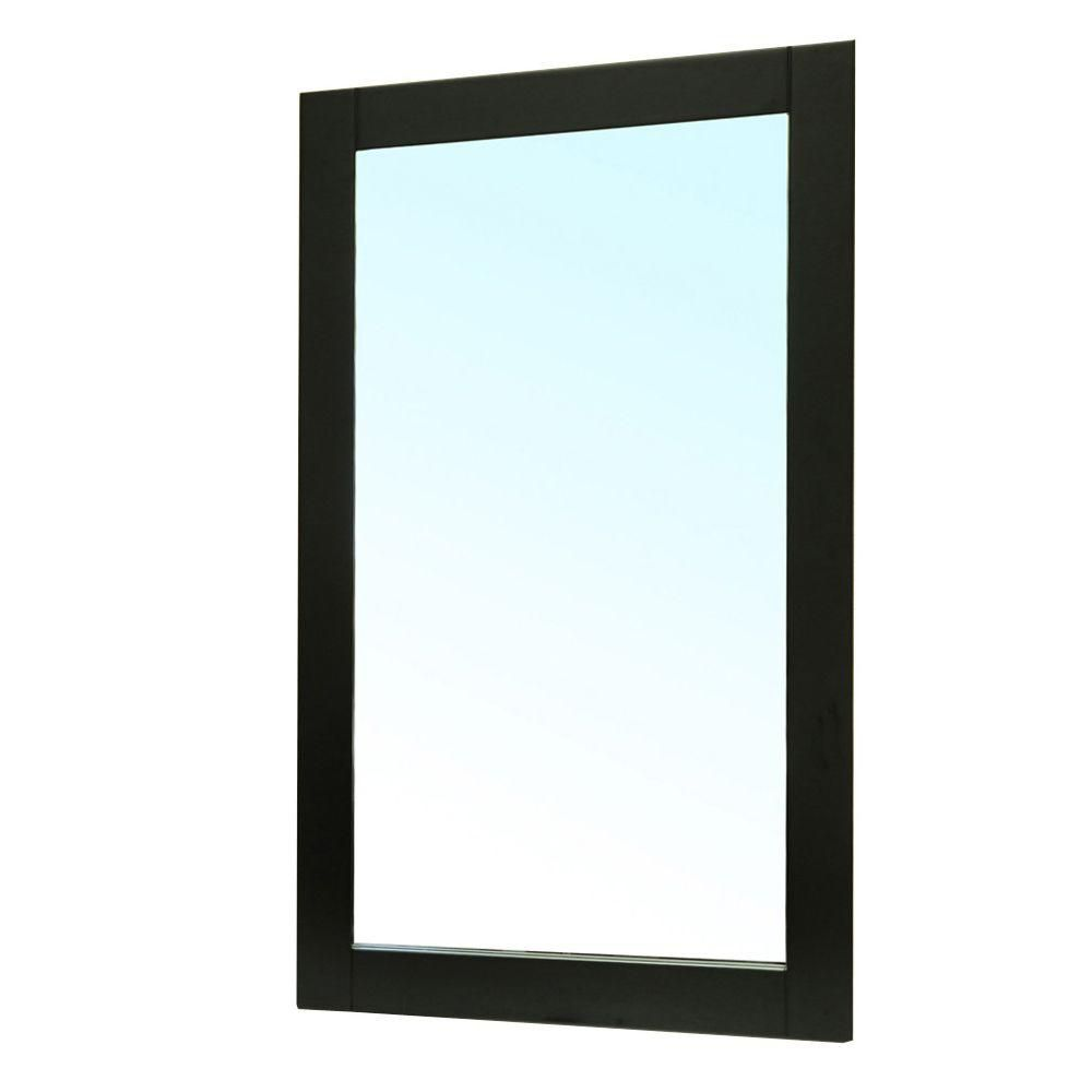Clematis 36 In. L X 26 In. W Wall Mirror in Black
