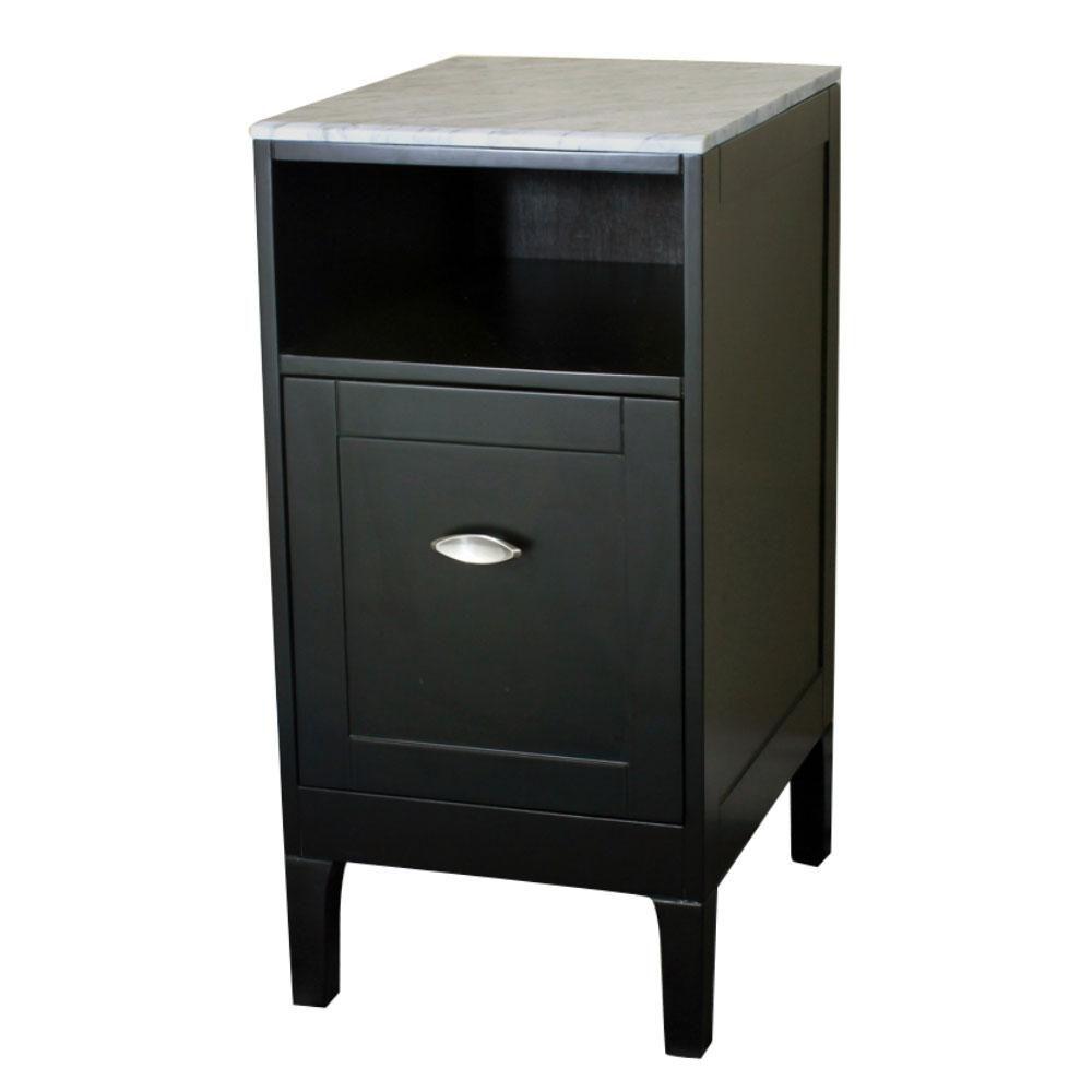 Glacier bay bath storage floor cabinet grey the home depot canada for Home depot bathroom floor cabinets