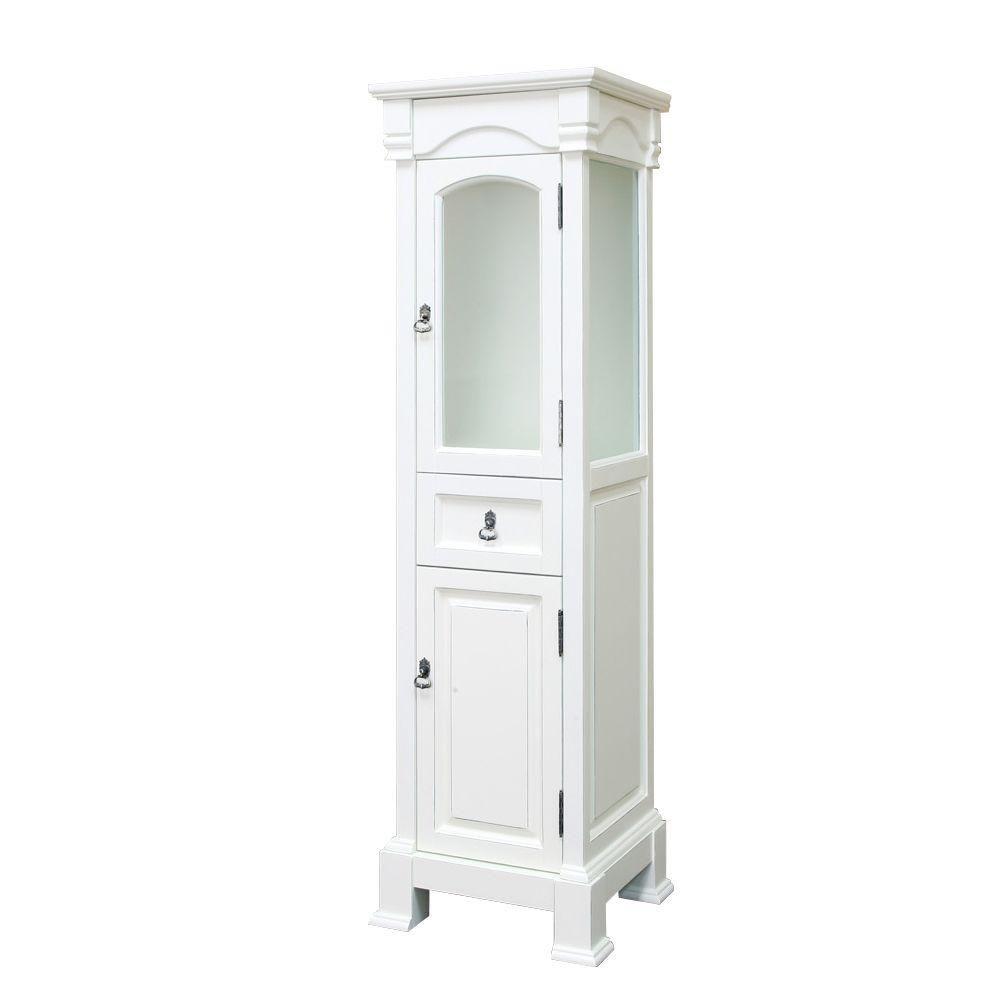 Bloomfield 18 In. Linen Cabinet in Cream White