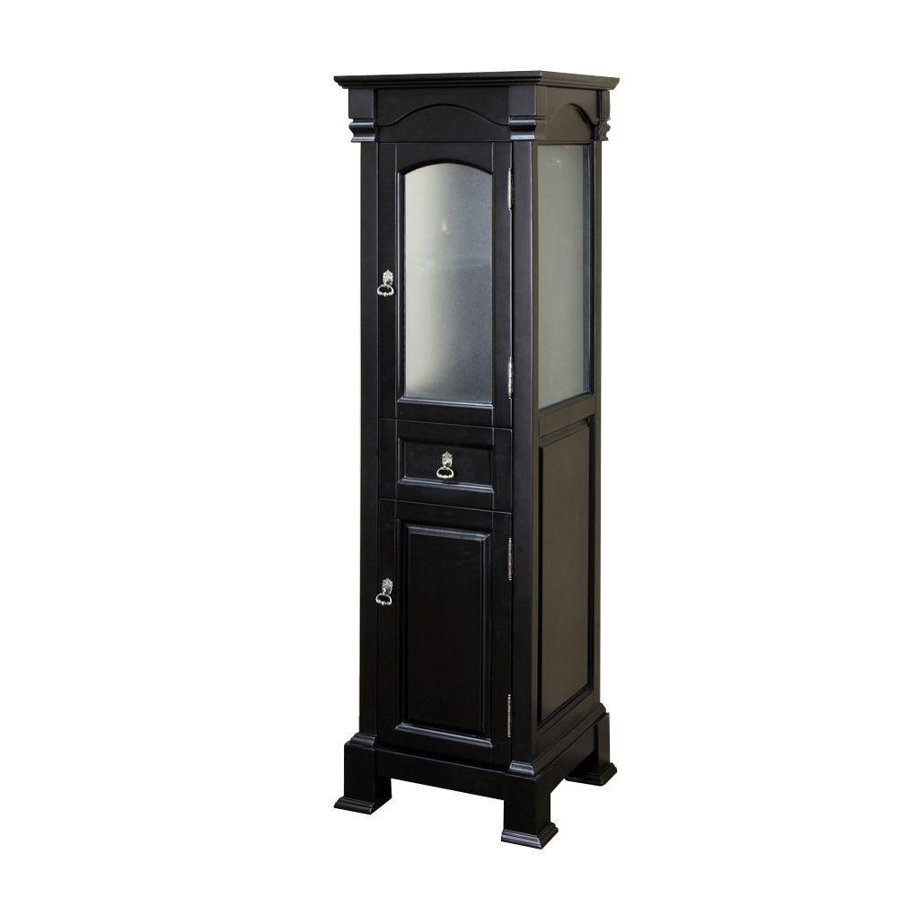 Bloomfield 18 In. Linen Cabinet in Espresso