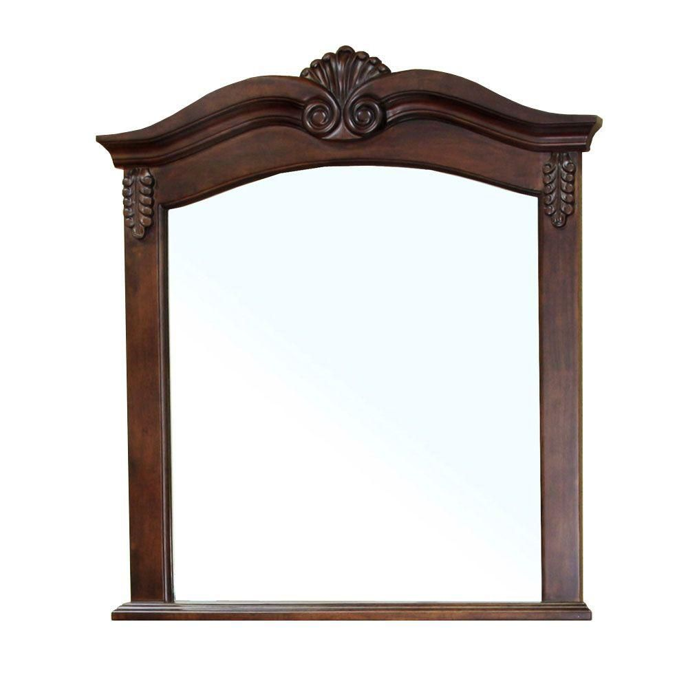 Ashby 38-6/10 In. L X 33-1/2 In. W Wall Mirror in Walnut 202016A-MIRROR Canada Discount