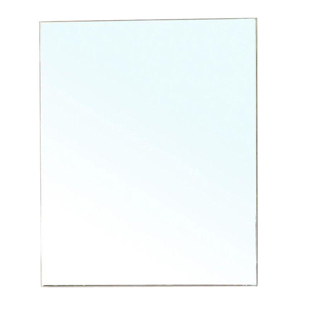 Bellaterra Neath 24 In. L X 29 In. W Solid Wood Frame Wall Mirror