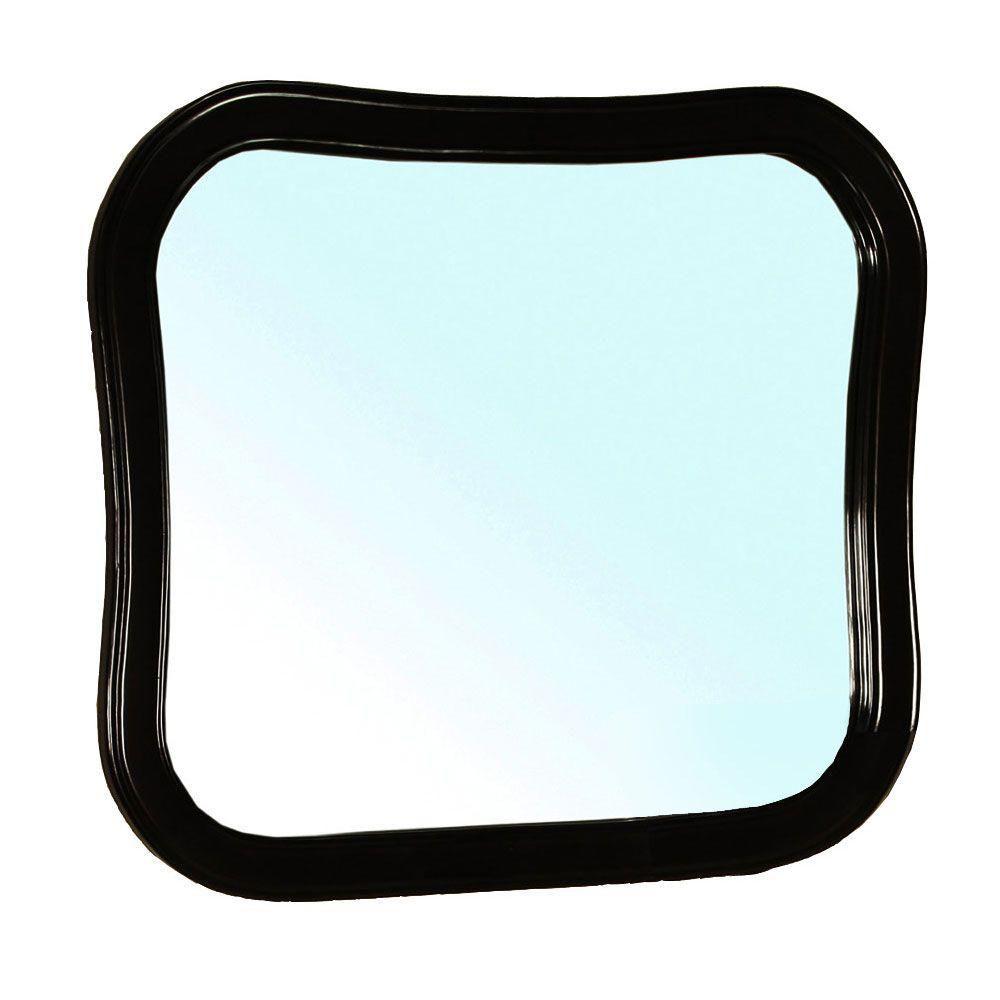 Swindon Miroir en bois noir de 35 po