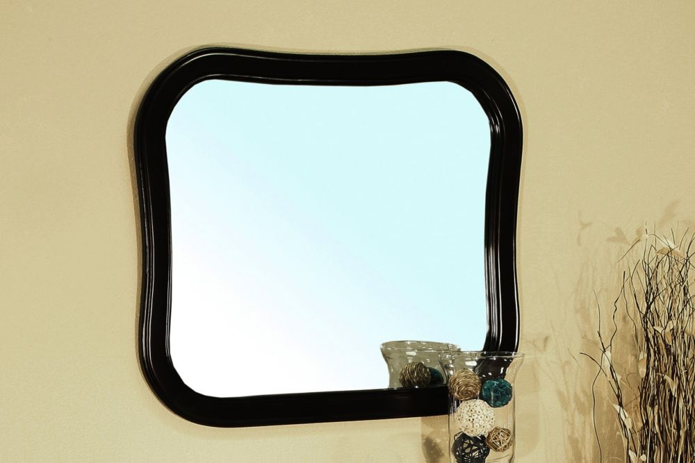 Swindon 35-inch W x 31-inch L Framed Wall Mirror in Espresso