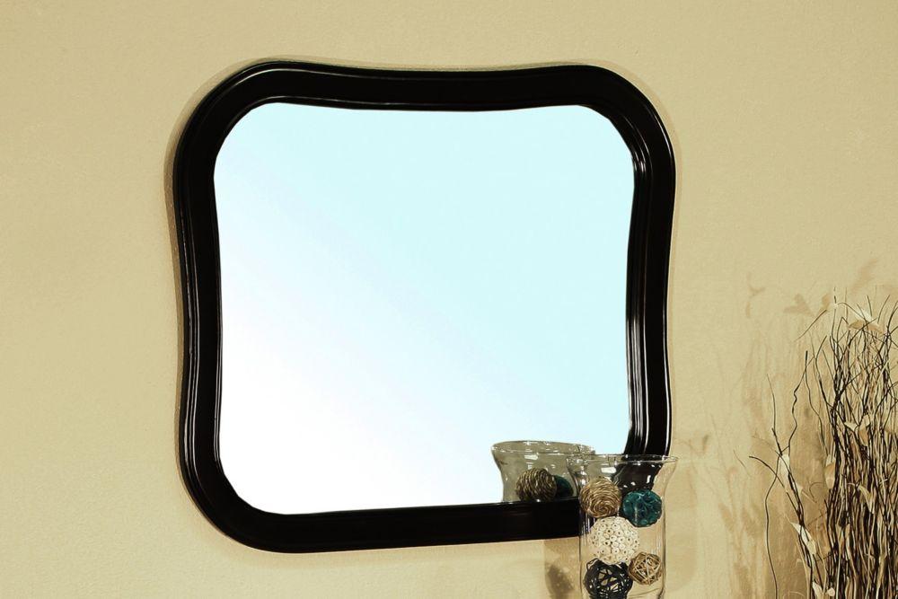 Swindon ES Miroir en bois espresso de 35 po