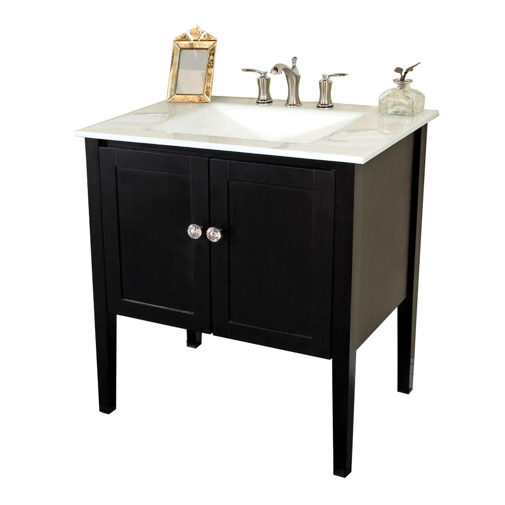 bellaterra meuble lavabo espresso de 33 5 po avec comptoir. Black Bedroom Furniture Sets. Home Design Ideas