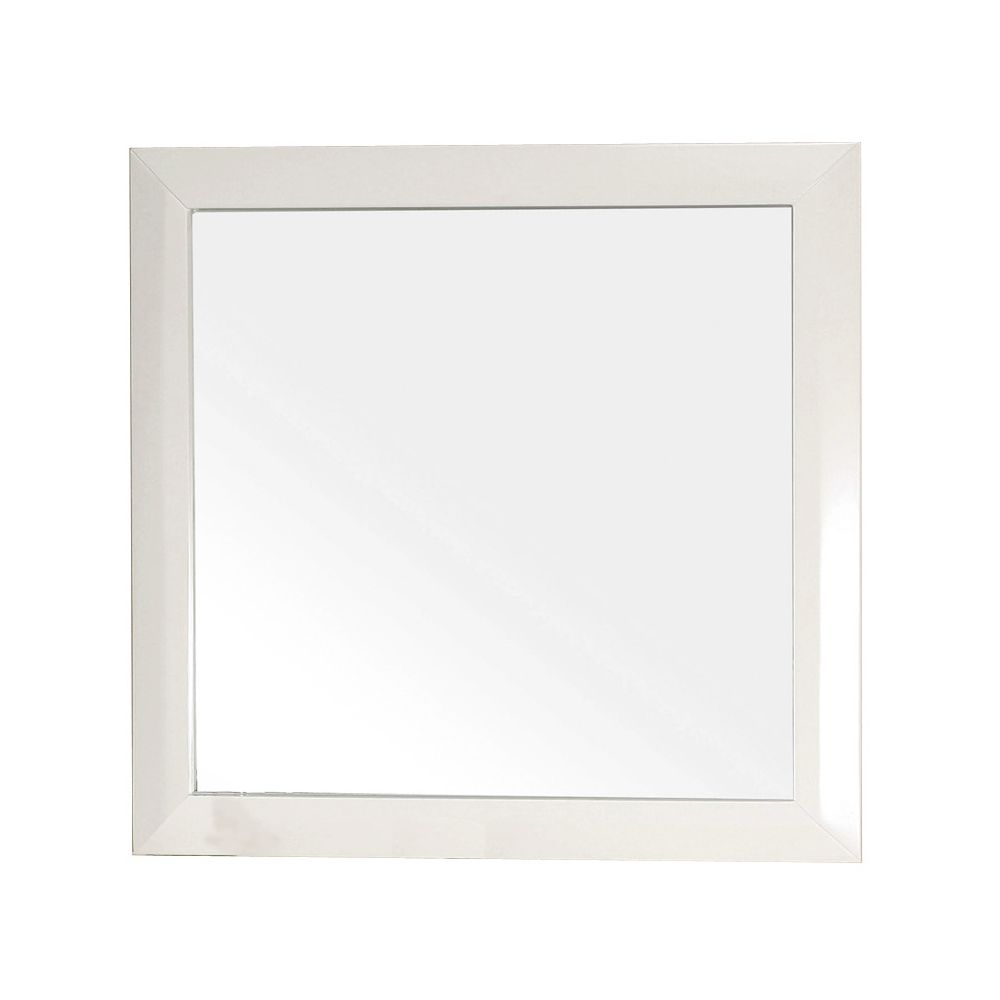 Telford Es 32 In. L X 32 In. W Solid Wood Frame Wall Mirror in White