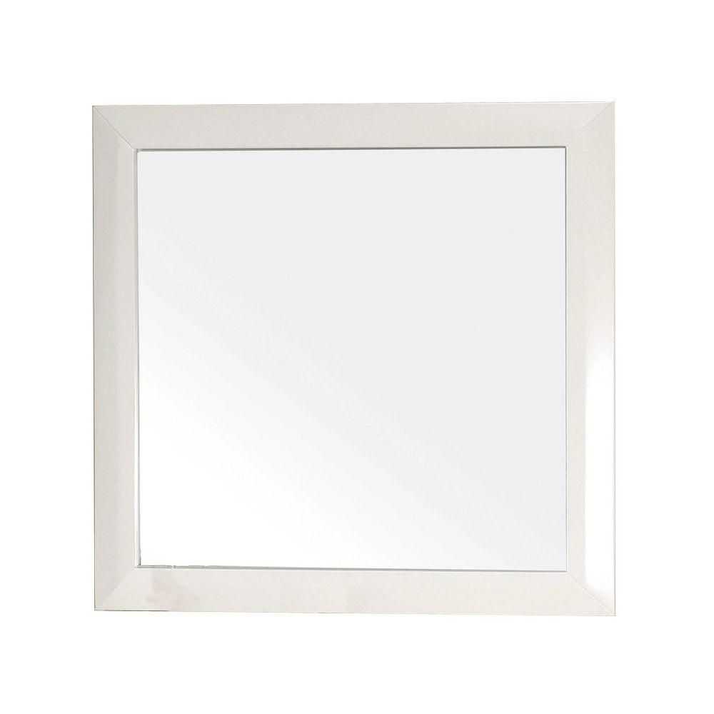 Telford Wh 32 In. L X 32 In. W Solid Wood Frame Wall Mirror in White