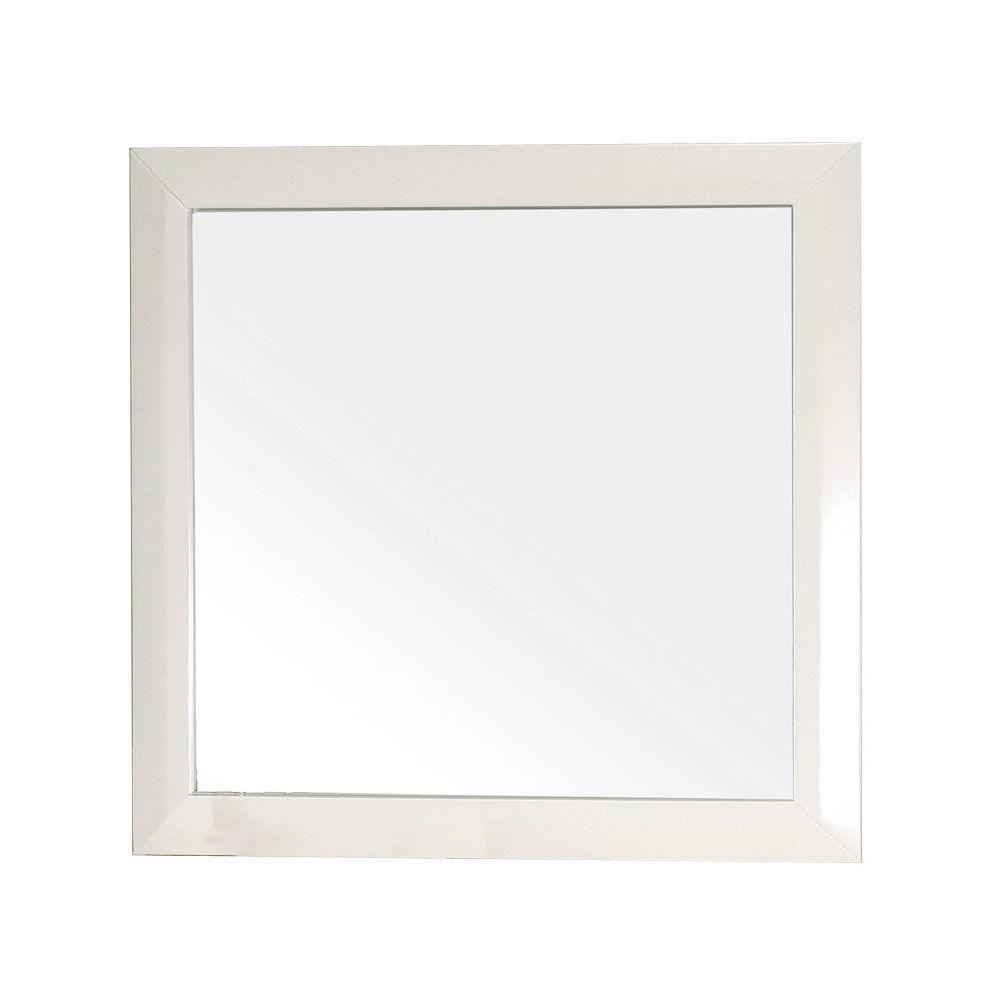 Telford WH Miroir en bois blanc de 32 po