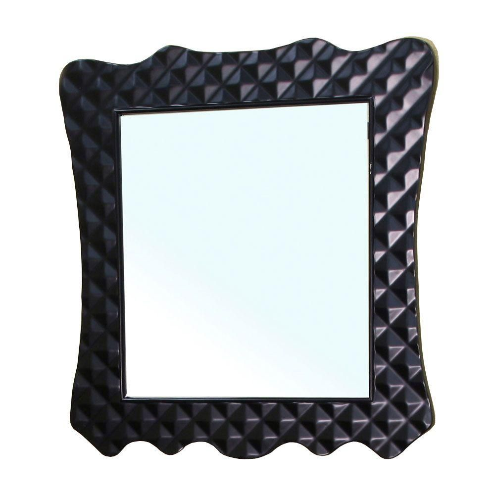 Veneto Miroir en bois noir de 32 po
