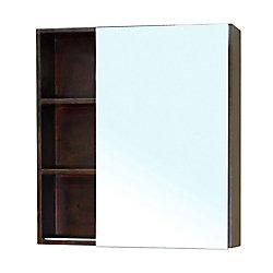 Bellaterra Waterford 32 In. L X 30 In. W Wall Mirror Cabinet in Walnut