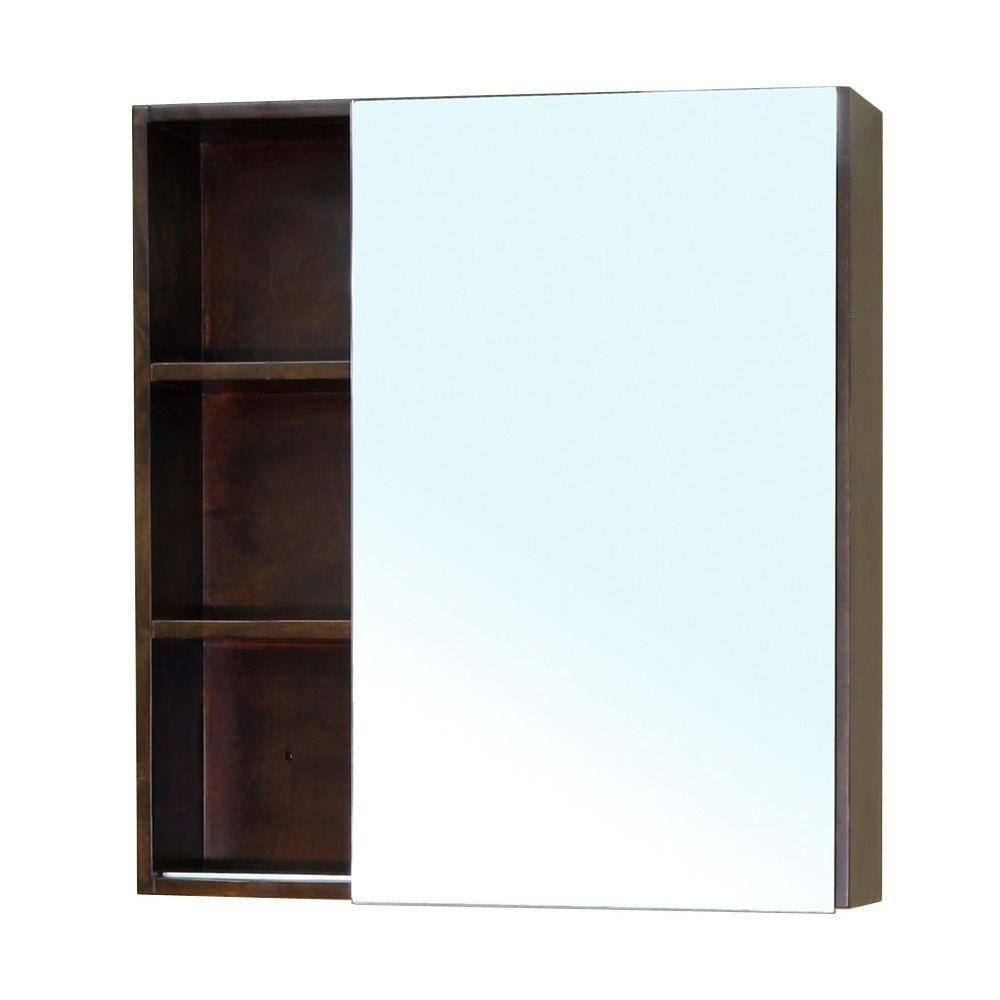 Waterford 32 In. L X 30 In. W Wall Mirror Cabinet in Walnut
