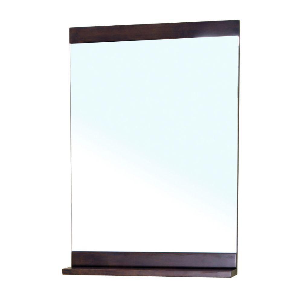 Clarendon Miroir en bois noyer de 22 po