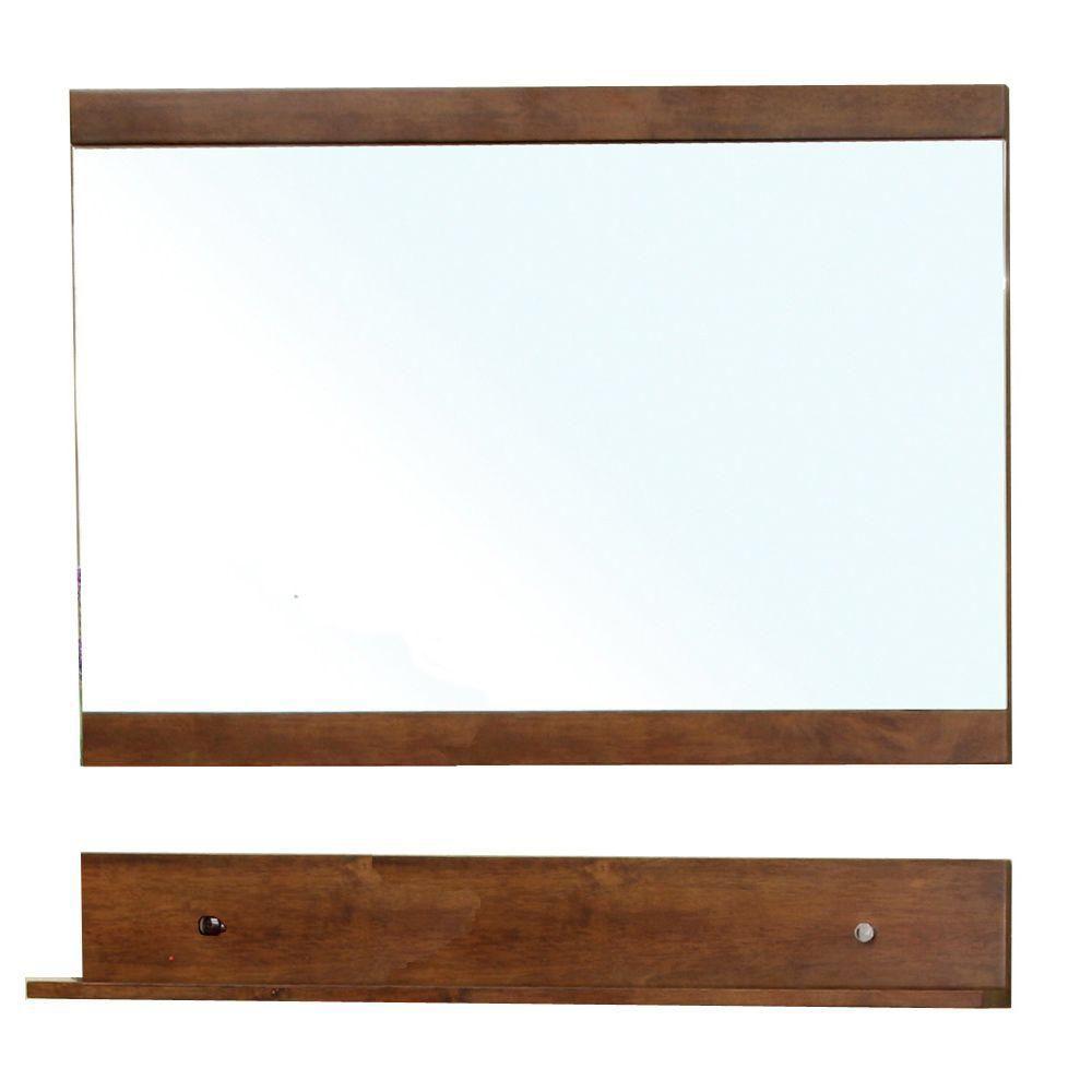 Lawson 34 In. L X 44 In. W Wall Mirror Cabinet in Walnut