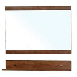 Bellaterra Lawson 34 In. L X 44 In. W Wall Mirror in Walnut