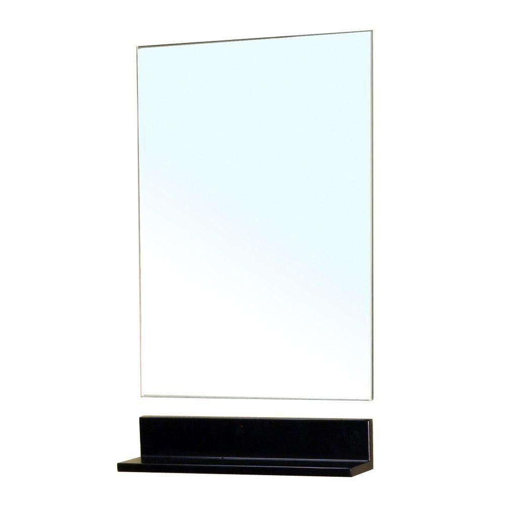 Bellaterra Butler 32 In. L X 20 In. W Solid Wood Frame Wall Mirror in Dark Espresso