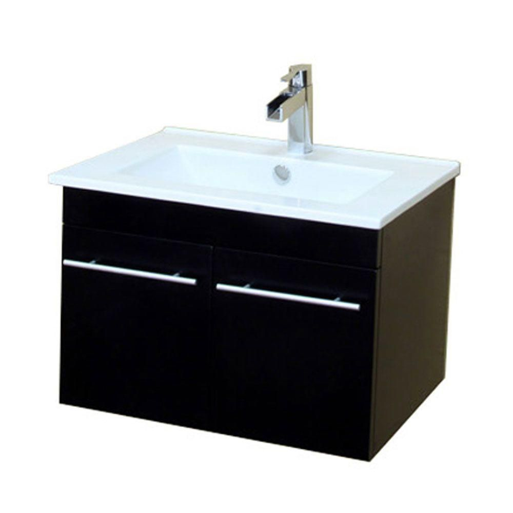 Glacier Bay Whitton 24 Inch W Vanity Combo With White Vitreous China The Home Depot Canada